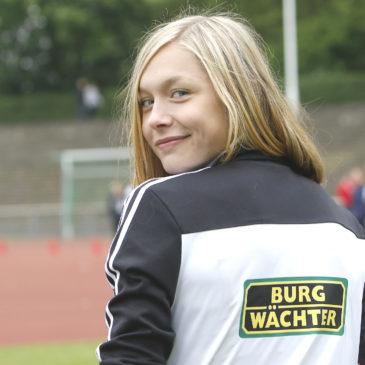 Gina Lückenkemper mit DLV-Staffel im EM-Finale