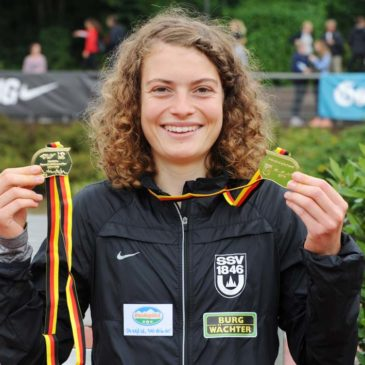 JDM: Alina Reh läuft zum Gold-Double