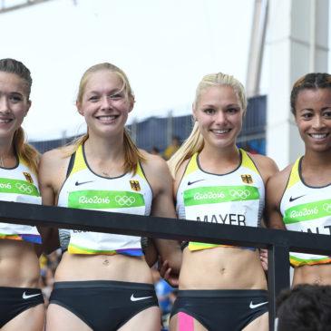 Rio: Deutsche Staffel jubelt über Olympia-Platz vier