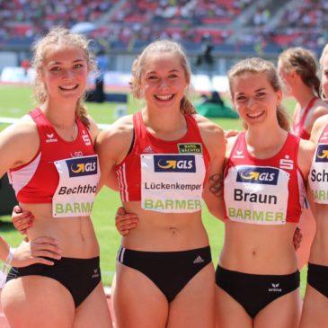 Gina Lückenkemper sprintet mit LGO-Staffel zu DM-Silber