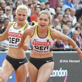 Gina Lückenkemper sprintet mit DLV-Staffel auf WM-Platz vier