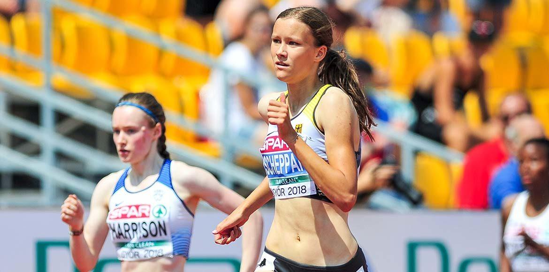 Marie Scheppan (LC Cottbus) bei der U18-EM 2018