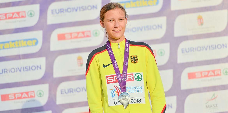 Marie Scheppan (LC Cottbus) mit Silber bei der U18-EM 2018