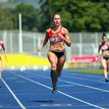 Gina Lückenkemper sprintet 11,16 Sekunden nach Reise-Chaos