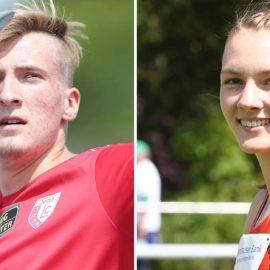 Speerwerfer Tom Meier und Siebenkämpferin Celina Leffler