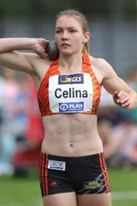 Celina Leffler stößt in Ratingen 14,89 Meter und damit Bestleistung