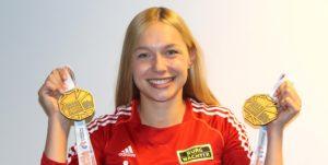 2016 strahlte Gina Lückenkemper in Amsterdam über zwei EM-Medaillen