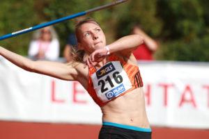 Hatte den Speer und die Konkurrenz im Griff: Celina Leffler verteidigte mit 6050 Punkten souverän ihren Siebenkampf-Titel in der U23