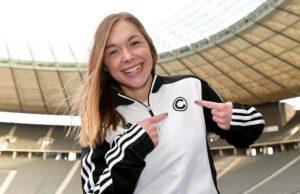 Ab 2019 im schwarz-weißen SCC-Dress unterwegs: Gina Lückenkemper