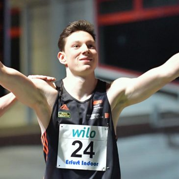 6,72 Sekunden: Luis Brandner brilliert in Erfurt mit 60-Meter-Bestzeit