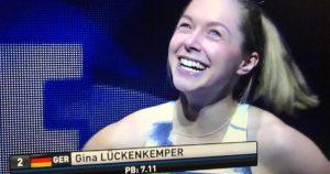 Gina Lückenkemper beim ISTAF Indoor 2019