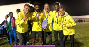 Amanal Petros und das deutsche Team beim 10.000-Meter-Europacup in London