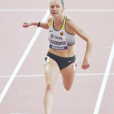 Für Gina Lückenkemper ist im WM-Halbfinale Endstation