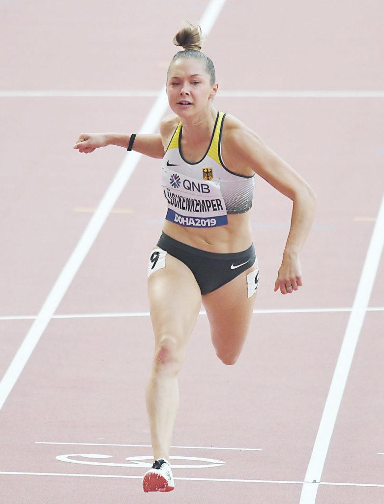 Gina Lückenkemper bei der WM in Doha