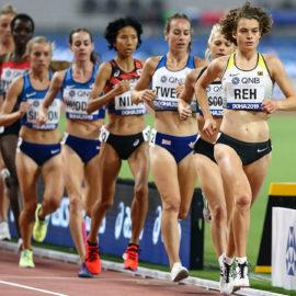 Alina Reh führte die ersten drei Kilometer das WM-Feld in Doha an