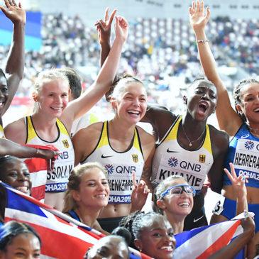 Gina Lückenkemper sprintet mit Staffel auf WM-Platz fünf