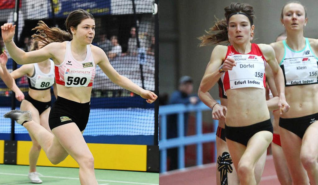 Sina Kammerschmitt und Blanka Dörfel vom Trackteam BURG-WÄCHTER