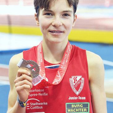 U20-Hallen-DM: Silber mit Bestzeit für Blanka Dörfel