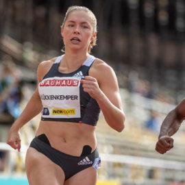 Gina Lückenkemper lief bei der Diamond League in Stockholm auf Platz fünf.