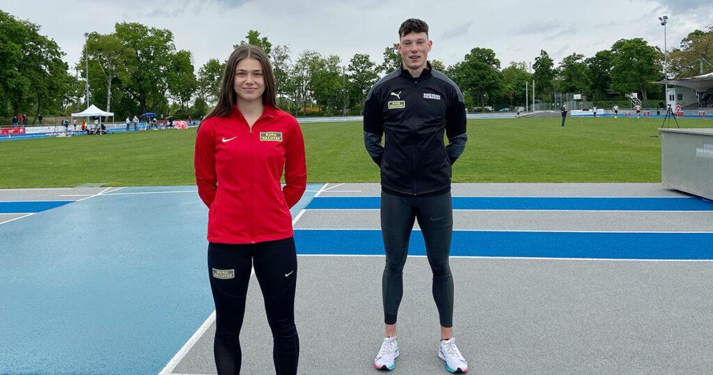 Sprinter vom Trackteam BURG-WÄCHTER - Sina Kammerschmitt und Luis Brandner.