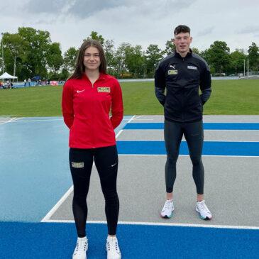 Luis Brandner und Sina Kammerschmitt starten flott in die Sprint-Saison