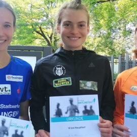 Alina Reh gewann den Tübinger Stadtlauf vor Hanna Klein und Eva Dietrich